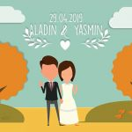 082138993535 Jasa Pembuatan Video Undangan Nikah Flat Wedding Invitation